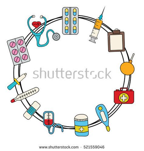 Illustrasi Frame medicine frame stock images royalty free images vectors