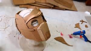 Cardboard Mask Template by 66 Lord Mask Part 1 Cardboard Free Template