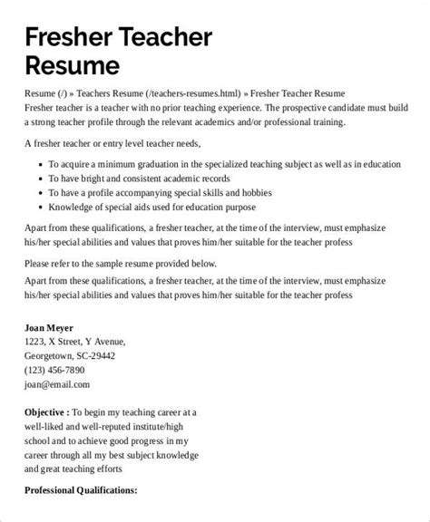 sle resume for teachers without experience in india 9 preschool resume templates pdf doc free