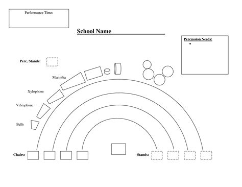 orchestra layout template orchestra seating chart template
