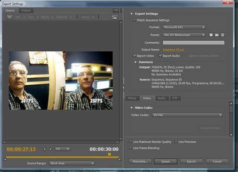 export adobe premiere mp4 cs5 how to export as an avi at dvinfo net