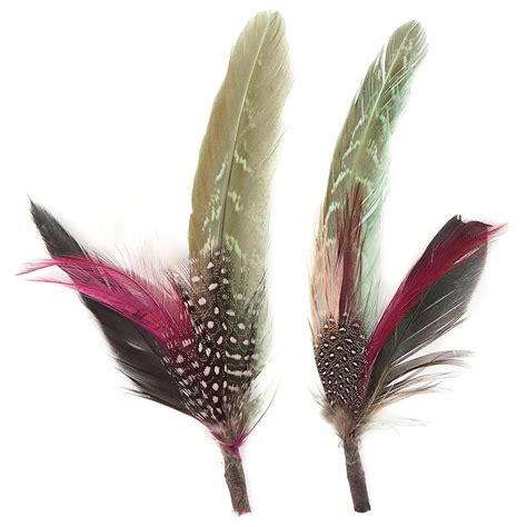 feather with pheasant hackle guinea feather hat trims chagne mint