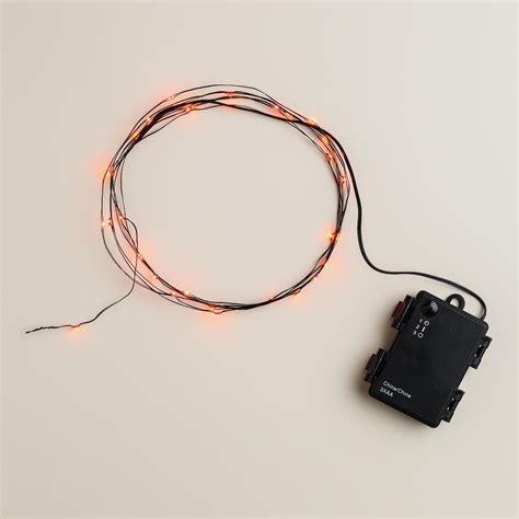orange led string lights orange micro led 30 string lights world market