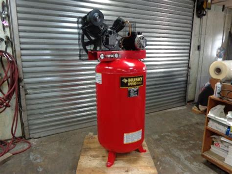 lot 22 husky pro air compressor 80 gal tank wirebids