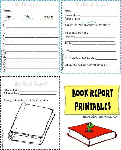 book report template printable modal title