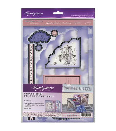 hunkydory card kits hunkydory crafts smudge mitten cloud wrap a4 card