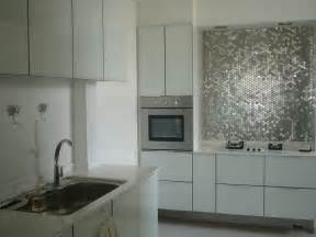 Metallic Kitchen Backsplash Metallic Backsplash Glamorous 2 Interior Design Ideas