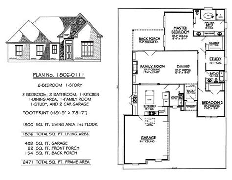 2 Bedrooms Single Lot House Plans 2 Story Family Room