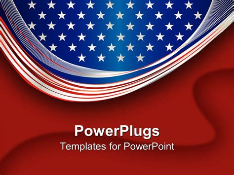 Powerpoint Template An American Flag With Bright Background 1707 American Powerpoint Templates