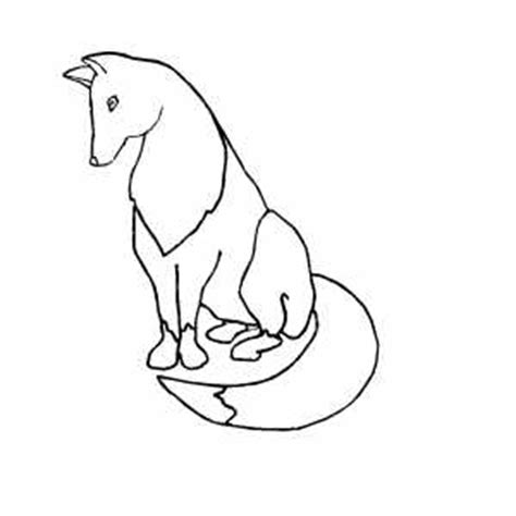 fox tail coloring page fox with nice tail coloring page