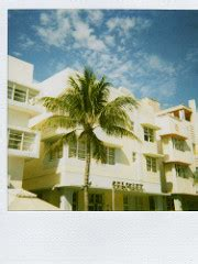art deco on south beach polaroid | polaroid 636 closeup