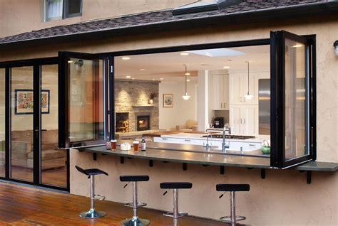 True Indoor Outdoor Living A Change Of Space Open Kitchen Bar Design