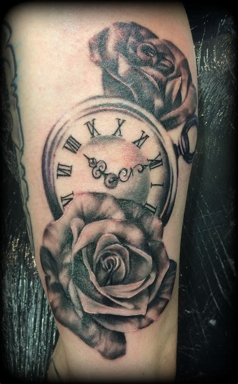 rosen taschenuhr ink couture tattoo