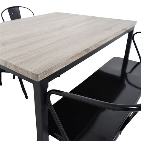 gray dining table with bench 53 grey dining table set with chairs and bench tables
