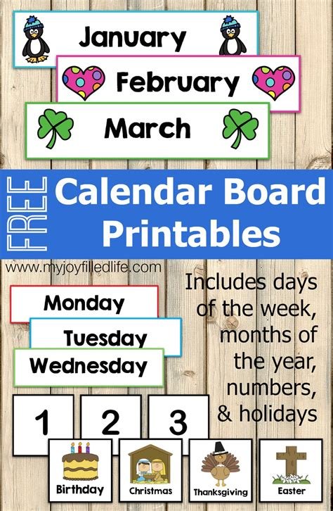 Calendar Board For Free Calendar Board Printables My Filled
