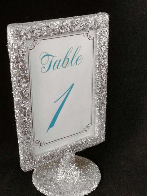 silver table number holders silver glitter table number holders picture frames tradesy