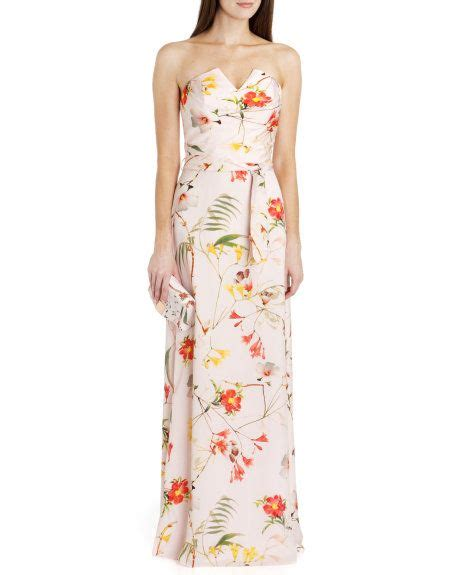 Blomming Maxi botanical bloom print maxi dress pale pink dresses ted baker row paula s wedding gown