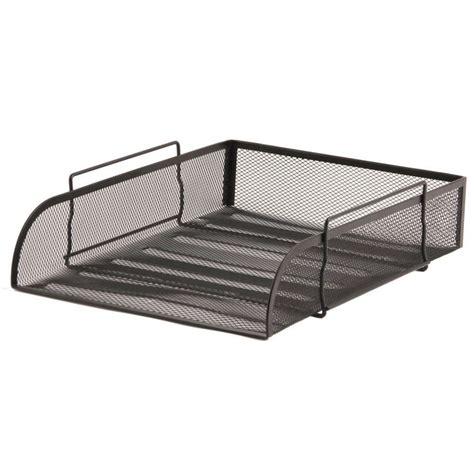 black mesh desk tray mesh letter tray a4 black staples 174
