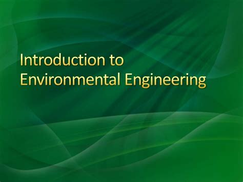 Introduction To Environmental Engineering 5ed 1 introduction to environmental engineering