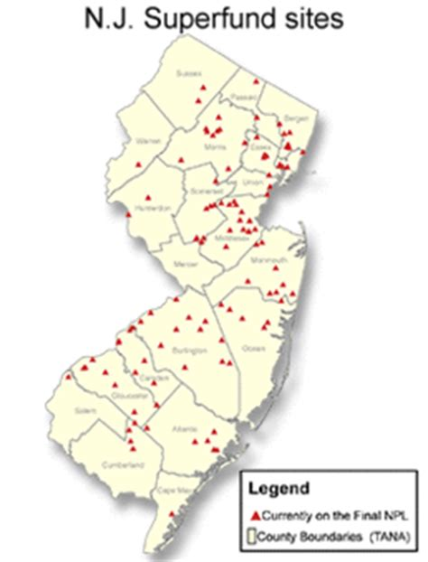 superfund map superfund watchdogs warily eye rollout of new n j