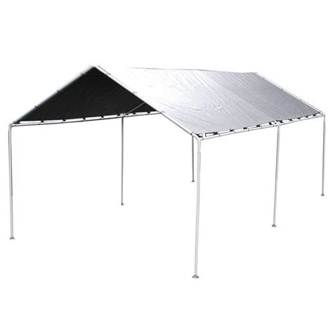 cing awnings and canopies king canopy 10 ft w x 20 ft d silver carport kmk1pcs