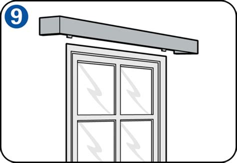 poser un rail 224 rideaux