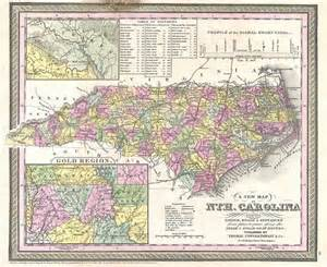 gold maps carolina a new map of nth carolina with its canals roads