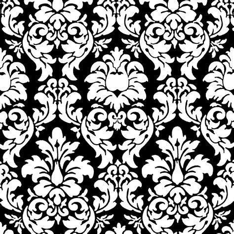 black on black damask wallpaper