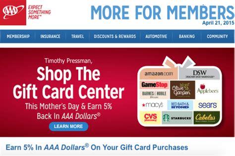 Aaa Restaurant Gift Card - earn 5 aaa dollars on gift card purchases