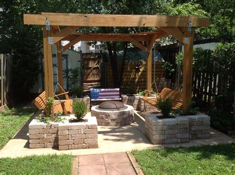 pit stop husband built this pergola with planters and