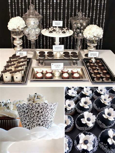 Black And White Buffet White And Black Wedding Centerpieces Breeds Picture