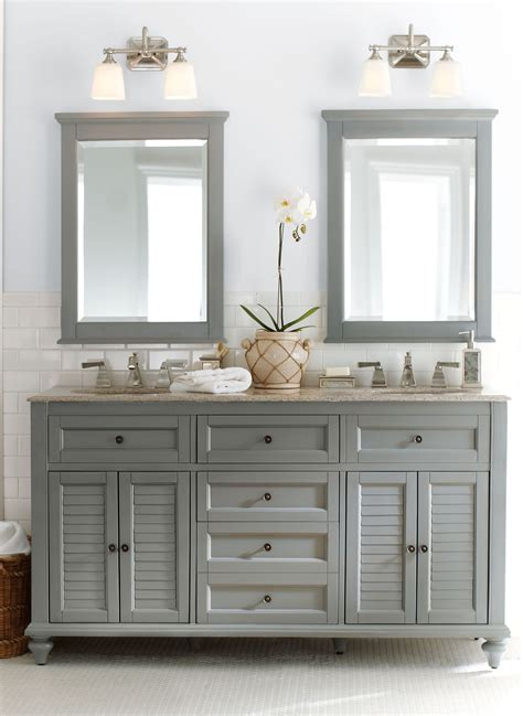 gorgeous  grey double  fun  bath vanity