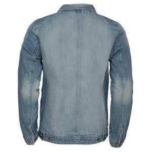 s threadbare light blue wash denim jacket