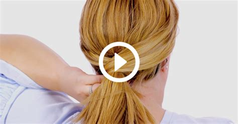 cross over low ponytail hair tutorial purewow