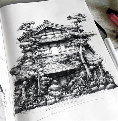 japanese house by sandraink on deviantart