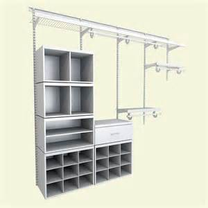 Closetmaid Components Closetmaid Closet Organization Elite 8 Ft White Wire And