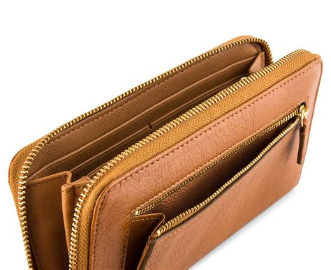 Fossil Sydney Zip Camel fossil sydney leather zip clutch camel great daily