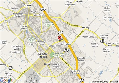 texas college map map of towneplace suites college station college station