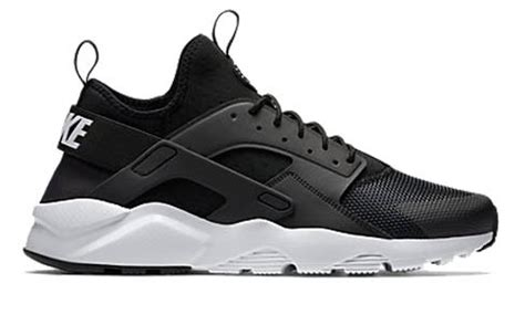 black and white pattern nike trainers nike air huarache run ultra black white trainer addict