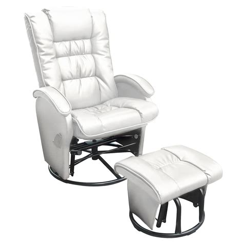 leather glider recliner with ottoman leather glider recliner with ottoman full image for