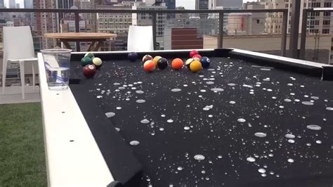 used outdoor pool table outdoor pool table water spill