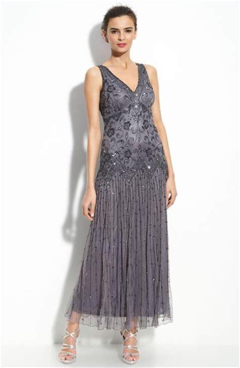 pisarro nights beaded mesh dress pisarro nights beaded mesh dress in gray slate lyst