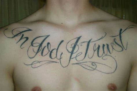 in god i trust tattoo designs wonderful stay positive on chest