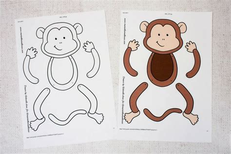 monkey template easy monkey paper puppet with templates in the madhouse