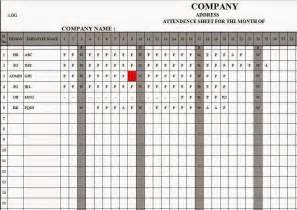 template for attendance register employee attendance register in excel free