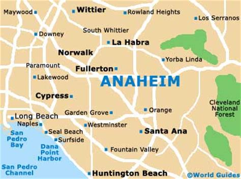 Los Angeles Map Anaheim
