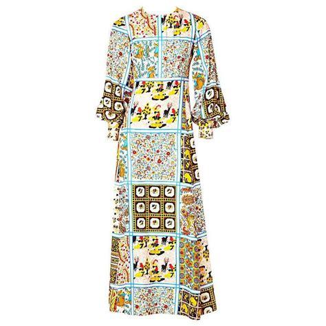 Patchwork Dress Pattern - c capriotti silk quot patchwork quot pattern 70 s maxi dress at