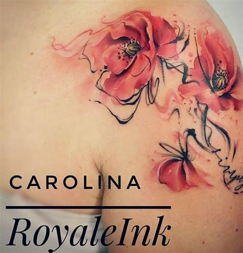 watercolor tattoos north carolina best 25 watercolor poppy ideas on