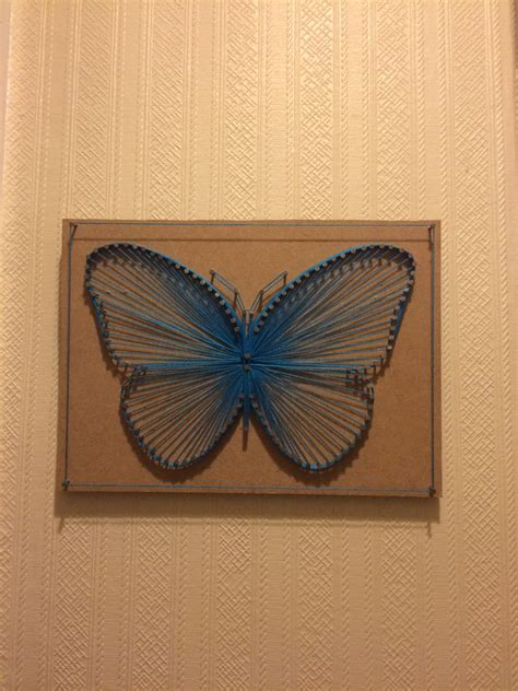 Butterfly String - butterfly string nail picture blue shabby chic 3d