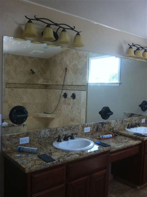 Mirror Vanity Watsonville by Clear Glass Frameless Shower And Tub Enclosure One